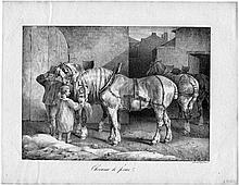 Géricault, Théodore - nach: Chevaux de ferme; Les Boueux