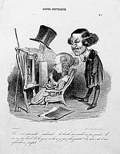 Daumier, Honoré: Sammlung von 56 Bl.