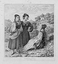 Grimm, Ludwig Emil: Drei Mädchen aus Goßfelden