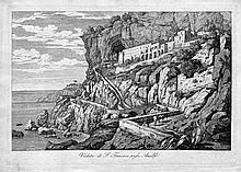 Grospietsch, Florian: Veduta di San Francesco presso Amalfi