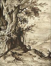 Bril, Paul - Nachfolge: Landschaft mit dem hl. Hieronymus bei einem Baum