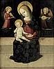 Norditalienisch: um 1460/70. Madonna mit dem Jesuskind, umrahmt von zwei musizierenden Engeln