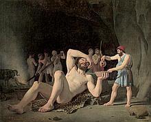 Hansen, Constantin: Odysseus schenkt dem Polyphem Wein ein