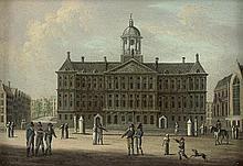Niederländisch: 19. Jh. Das Rathaus von Amsterdam, Stadttor bei Amsterdam