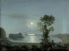 Italienisch: um 1800. Der Golf von Pozzuoli bei Vollmond