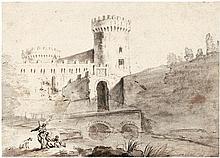 Breenbergh, Bartholomäus - zugeschrieben: Blick auf die Stadtmauer von Grottaferrata
