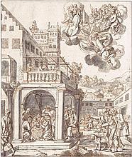 Augsburgisch: um 1680. Die Anbetung der Könige