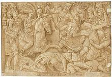 Italienisch: 16. Jh. Antike Reiterschlacht