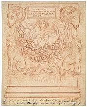 Italienisch: 17. Jh. Reichverziertes, antikes Epitaph mit Widderköpfen, Greifen und Girlanden