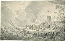 Hess, Peter von: Napoleon mit seinen Generälen an einer Küste
