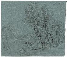Dillis, Johann Georg von: Flusslandschaft mit Viehtreiber