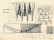 Poelzig, Hans: Großes Schauspielhaus, Innenraumentwürfe und Bogenstrukturen