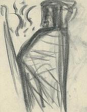 Poelzig, Hans: Macbeth, Figurenstudien für ein Gemälde