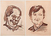 Baselitz, Georg: Doppelportrait Heiner Friedrich und Franz Dahlem