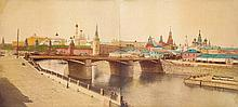 Avanzo, B.: Panoramic view of Kremlin over the Moscow river