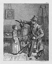Hansen, Constantin: Jäger einem kleinen Mädchen seine Beute zeigend