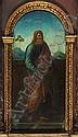 Oberitalienisch, 1. Hälfte 16. Jh.: Heiliger mit Buch vor einer Landschaft