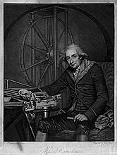 Jones, John: Portrait von Jesse Ramsden, Optician to the King, vor seinem stronomischem Messinstrument Altazimut