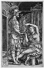 Aldegrever, Heinrich: Medea übergibt die Hausgötter an Jason