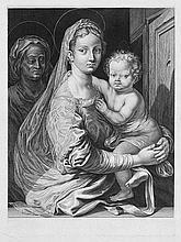 Falck, Jeremias: Die heilige Jungfrau mit dem Kind und der hl. Anna