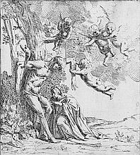 Carpioni, Giulio - Umkreis: Die Witwe des hl. Katulus befreit den hl. Sebastian vom Baum