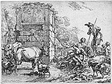 Berchem, Nicolaes: Die trinkende Kuh