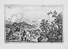 Everdingen, Allaert van: Landschaft mit den aus dem Wasser hearusragenden Felsen