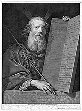 Edelinck, Gérard: Moses mit den Gesetzestafeln