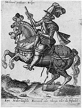 Bruyn, Abraham de: Zwei Ritter zu Pferd