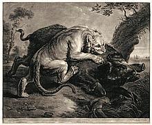 Earlom, Richard: Die Löwin und das Wildschwein