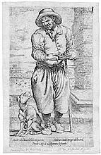 Faccini, Pietro: Blinder Bettler mit seinem Hund