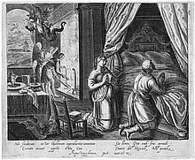 Braun, Augustin - nach: Tobias und Sarah beten vor ihrem Hochzeitsbett
