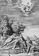Bonasone, Giulio: Calypso sucht Odysseus zurückzuhalten