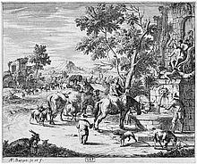 Bargas, A.F.: Die rastenede Herde am Venusbrunnen