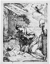 Biscaino, Bartolomeo: Die Jungfrau und der hl. Josef, das Christkind verehrend