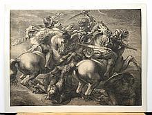 Edelinck, Gérard: Der Kampf der vier Reiter (Die Schlacht von Anghiari).