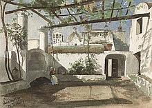 Wilberg, Christian Johannes: Sommerliche Pergola in Anacapri