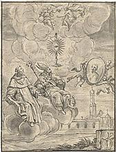 Storer, Johann Christoph: Der Hl. Thomas von Aquin und der Hl. Augustinus auf einer Wolke