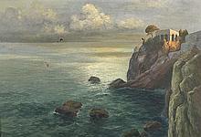 Seidel, August - zugeschrieben: Felsenküste von Capri