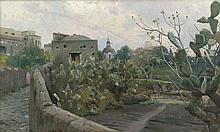 Mønsted, Peder: Kakteen an einer Straßenmauer in Torre del Greco