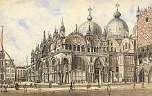 Italienisch: um 1840. Venedig: Blick auf San Marco