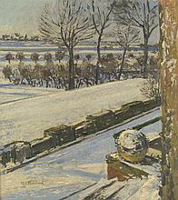 Clarenbach, Max: Schneelandschaft