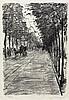 Ury, Lesser: Straße mit Bäumen, Lesser Ury, €500