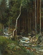 Pohle, Hermann: Waldstück mit Bachlauf