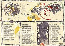 Alechinsky, Pierre: Abstrates (avec poème de Dotremont)