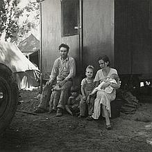 Lange, Dorothea: A California Fruit Tramp and his Family in the Marysville Migrant Camp