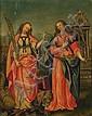 Flämisch, 16. Jh.: Die Heiligen Margarethe und Barbara