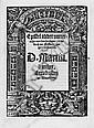 Luther, Martin: Epistel odder unterricht. 3. A. Erfurt 1522