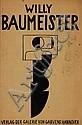 Baumeister, Willy: Ausstellungskatalog Hannover 1922