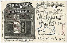 Hartleben, Otto Erich: 5 Postkarten + Beilage